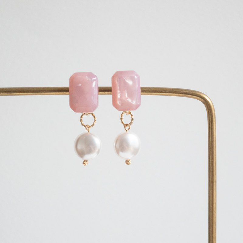 TeaTime Morandi's Tea Pastel Earrings Ear Clips