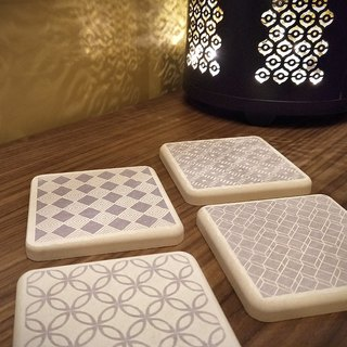 Christmas gift [MBM] minimalist eternal MBM tile diatomaceous earth coaster _ single piece (multiple colors available)
