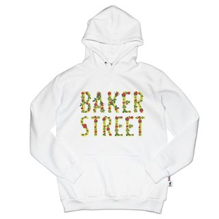 British Fashion Brand [Baker Street] Floral Letters  Printed Hoodie