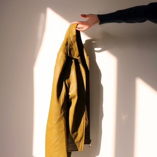 Maud Jacket Mustard Green Leather Jacket (Old Fashioned)