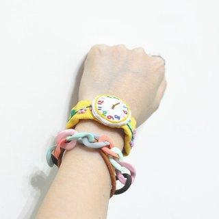 magichand original hand-made embroidery fake watches lovely bracelet (yellow)