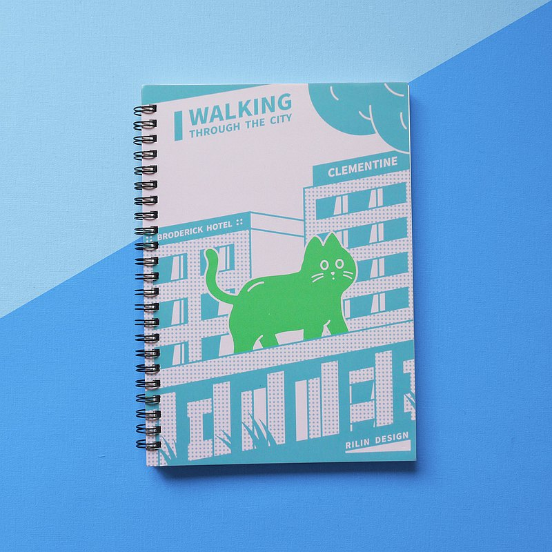 City Tour-A5 Coil Notebook