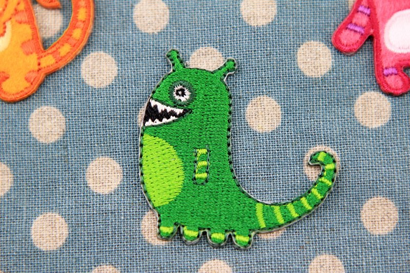 Slowly self-adhesive embroidered cloth stickers - cute monster series