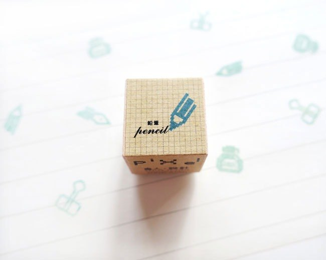 Pencil pixel seal stationery series