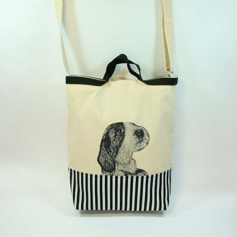 Hand embroidery, shoulder bags dual 04- dogs