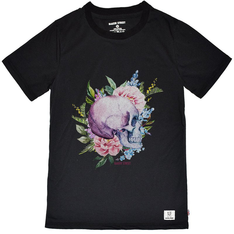British Fashion Brand [Baker Street] Skull  Printed T-shirt