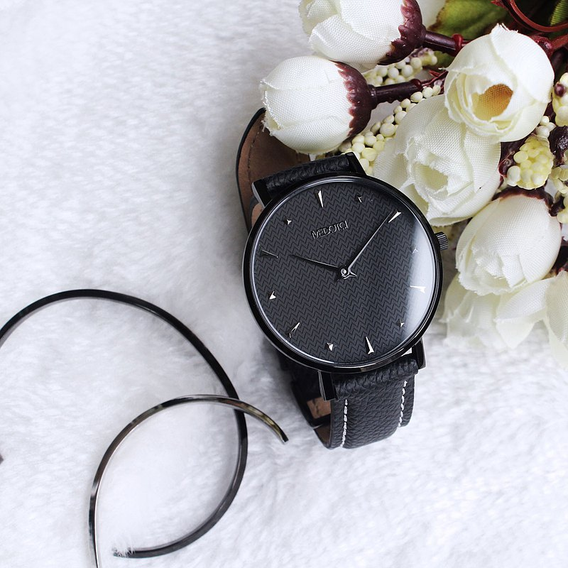 HOPE collection Minimalist dial elegant leather strap ladies watch / HO-12402