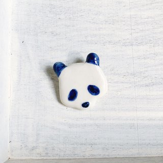 Panda brooch royal blue