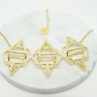 Geometric Metal Necklace 3D Short Chain Model Necklace