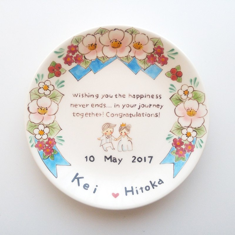 Wedding gifts plate 【HappyWedding】 order (custom)