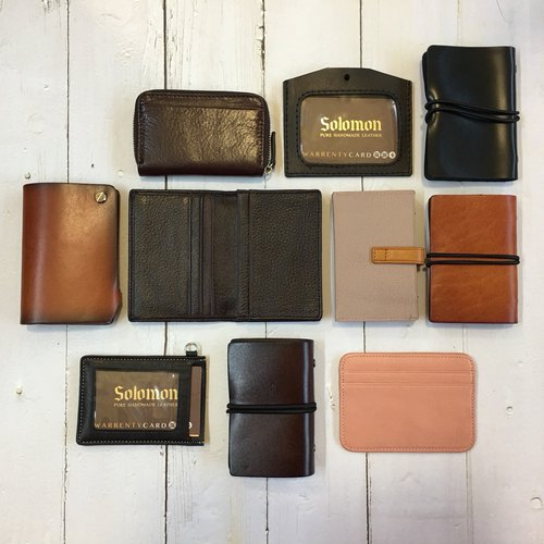 [Welfare item] Micro-skin leather business card holder, identification card - half price clear - 瑕疵