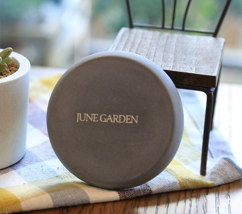 Cement round base cement hand made pots / coasters