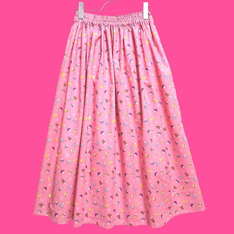 minimini 蘑菇裙粉色 / 均碼 / JAPANESE TEXTILE / 日本製造