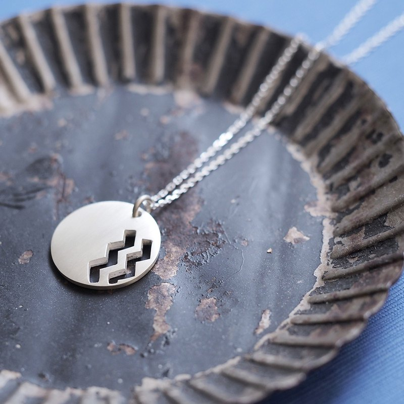 Coin wave Men's necklace 925 Silver