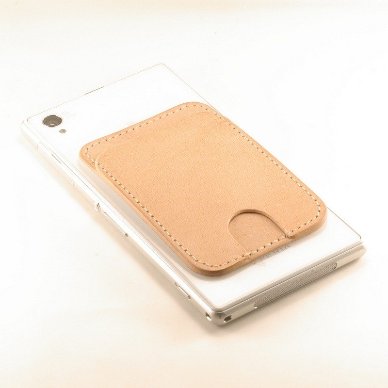 Simple vegetable tanned card sets of primary color back stickers mobile phone - custom branding