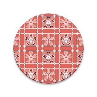 Old House - Daily Iron Window Coaster - Cherry Blossom