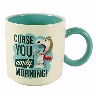 Snoopy Movie Mug - It's hard to get up early (Hallmark-Peanuts Snoopy mug)