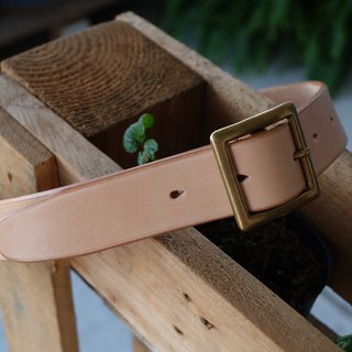 HiroLeatherworks full vegetable tanned primary hand-stitched Italian leather belt (can be tailored)