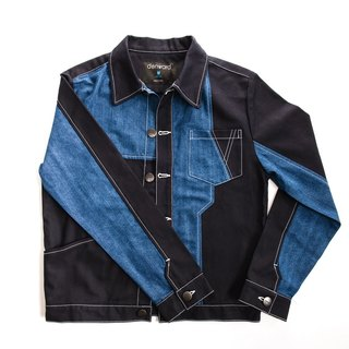 A multi-stitched denim jacket - for men
