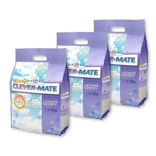 CEVER-MATE Certified as a Cat Litter for Filtering Wines - Elegant Lavender (6.35 kg x 3 packs)