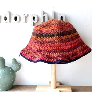 [endorphin] hand-woven fisherman hat Red Sangria