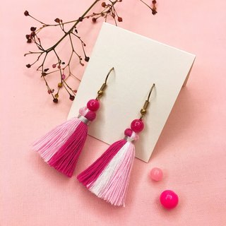 Dating Cute Cute Pink Tassel Earrings Earrings