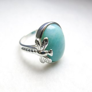 READ Dazzling Ready to Fly | Sterling Silver Ring 石河石蜻蜓 925 纯银手作