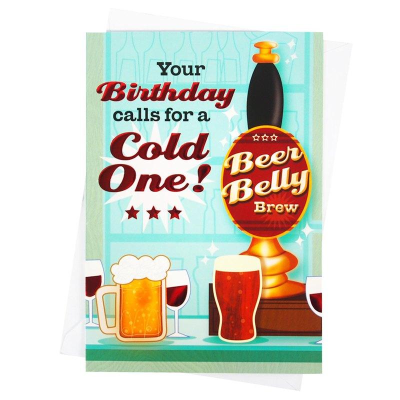 你的生日就命名為啤酒日【Hallmark-卡片 生日祝福】