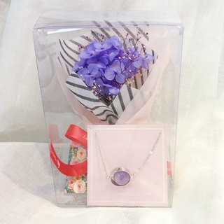 Purple Crystal Preserved Flower Gift Box