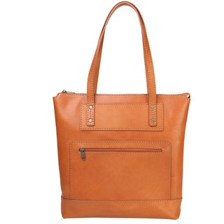 JIMMY RACING leather handmade shoulder tote bag - camel 0302136
