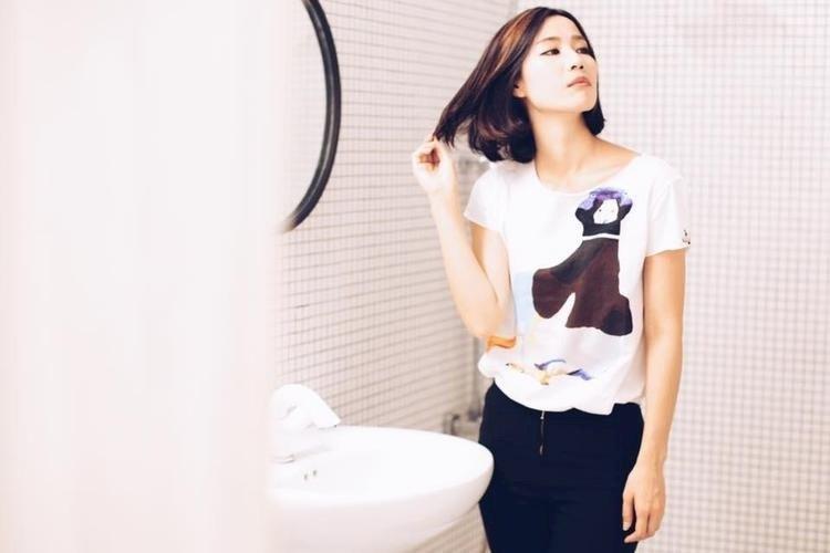 小黑鴨-純手工輕棉短袖上衣 M size
