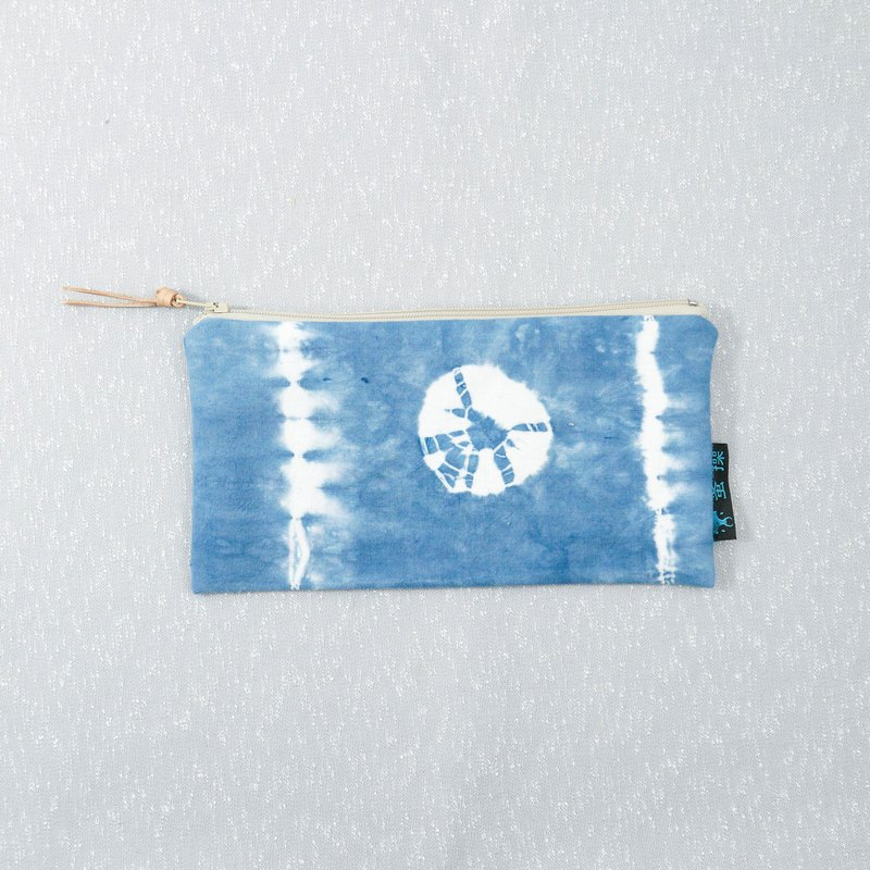 Tie-dye handmade Pencil Case Cosmetic bag Purse Zipper bag : Water Spider :