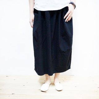 Cotton elastic stitching skirt / black