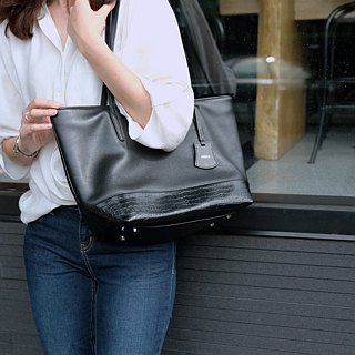 Harbour Tote Bag - ฺBlack