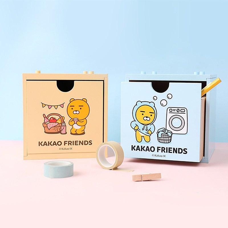 Kakao Friends積木抽屜盒- Ryan萊恩 木盒 收納盒 整理收納箱 儲