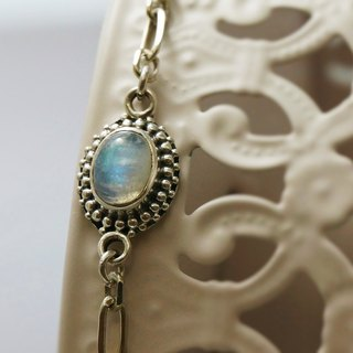 Barcelona Natural Moonstone International 925 Sterling Silver Bracelet Light Jewelry