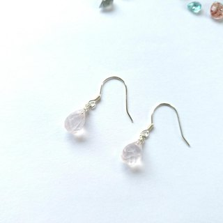 Powder crystal, Sterling silver earring