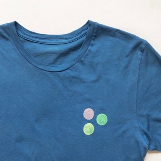 Indigo dyed indigo organic cotton - CIRCLE TEE