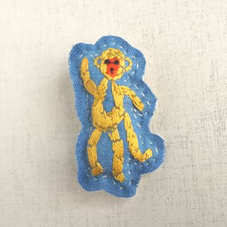 "the oriental zodiac brooch with hand embroidery ""monkey"" [order-receiving production]"