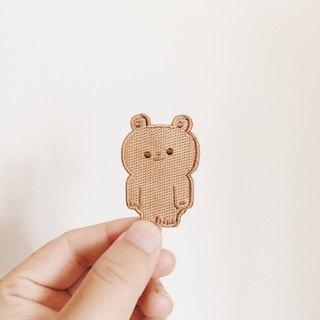 Embroidered pins-bear cookie