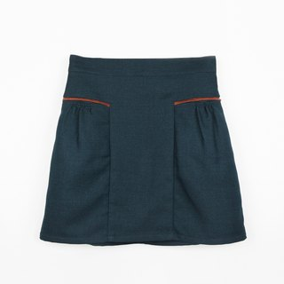 Hit color lantern temperament short skirt