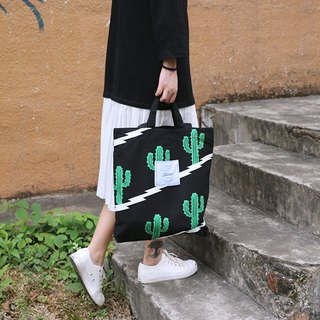 Colour-Up Canvas Bag / Bag / Shoulder Bag Cactus Black