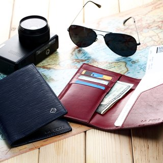 【La Fede】 AQUA Anti-theft Passport Holder * 2 Limited Time Offer (Pure Branding)