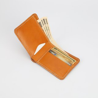 [Cut line] classic men's two fold short wallet leather handmade wallet money cloth very short clip to send boyfriend
