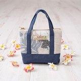 Pouch(mini bag style)〜Blue leaf〜LaKaori Original