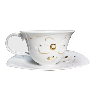 1300│ egg series - Citadines disk group _ fine porcelain coffee cup
