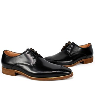 Sixlips simple yas carved derby shoes black