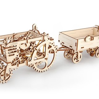 /Ugears/ Ukrainian Wooden Model Tractor Accessories - Trailer Tractors Trailer