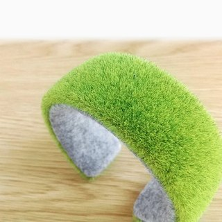 grass bracelet cuff, Kawaii lawn bangle,Green bracelet, Gift for women, pretty