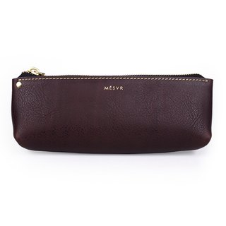 [Minerva]|Pencil Case L|Zipper Pouch Silver Kraft